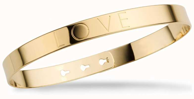 "Mya Bay Gold PVD Plated ""love"" Bangle JL-01.G"