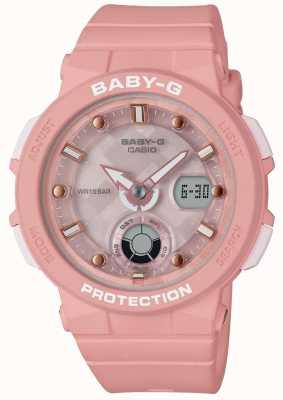 Casio Baby-G Pink Strap Beach Traveler BGA-250-4AER