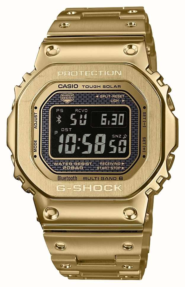 Casio G Shock Radio Controlled Bluetooth Solar Gold Plated Steel Gmw