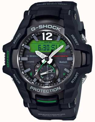 Casio G-Shock Gravitymaster Bluetooth Solar Black/Green Rubber GR-B100-1A3ER