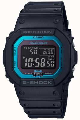 Casio G-Shock Bluetooth Radio Controlled Resin Band Black/Blue GW-B5600-2ER