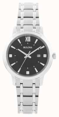 Bulova Women's Stianless Steel Crystal Set Dress Watch 96P185