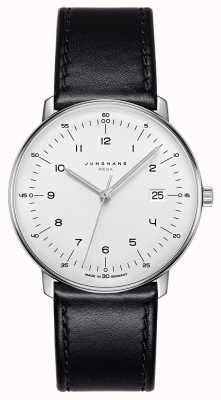 Junghans Max Bill MEGA MF Black Leather Strap 058/4820.04