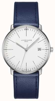 Junghans Max Bill MEGA MF Blue Leather Strap 058/4822.00