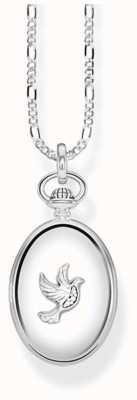 Thomas Sabo Sterling Silver Vintage Dove Oval Locket Necklace D_KE0040-356-14-L45V
