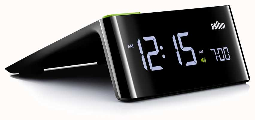 Braun Digital Bedside Alarm Clock | LCD Display BNC016BKUK