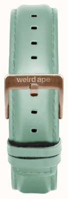 Weird Ape Mint Green Leather 16mm Strap Only Rose Gold Buckle ST01-000042
