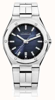 Michel Herbelin Mens Stainless Steel Watch Blue Dial 12245/B15