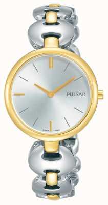 Pulsar Womens Two Tone Silver Gold Bracelet Watch PM2264X1