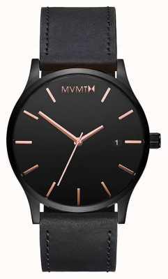 MVMT Classic Black Rose Leather | Black Strap | Black Dial D-MM01-BBRGL