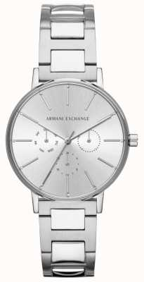 Armani Exchange Womens Lola Stainless Steel Silver Chronograph Watch AX5551