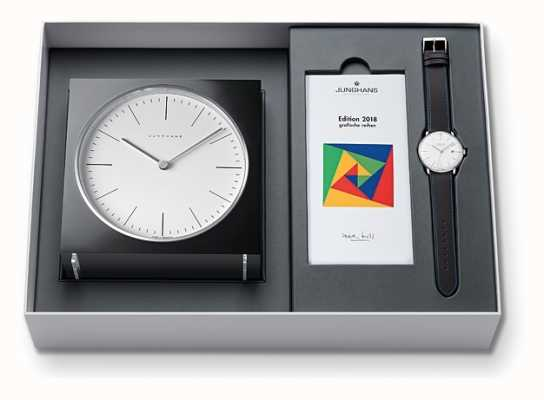 Junghans Max Bill Clock & Watch Set Limited Edition 2018 363/2816.00