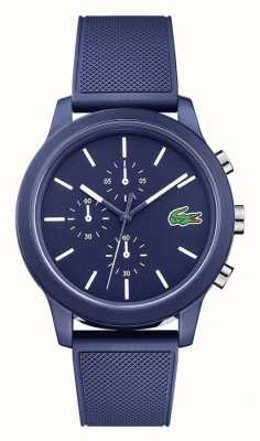 Lacoste Mens 12.12 Blue Silicone Strap Blue Dial 2010970