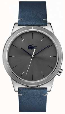 Lacoste Motion Blue Leather Strap Grey Dial 2010989