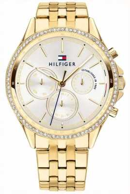 Tommy Hilfiger Women's Gold Plated Crystal Set Multi-function 1781977