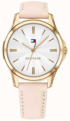 Tommy Hilfiger Women's Gold Plated Case Blush Leather 1781954