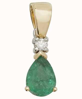Treasure House 9k Yellow Gold Emerald Pendant Pd237e