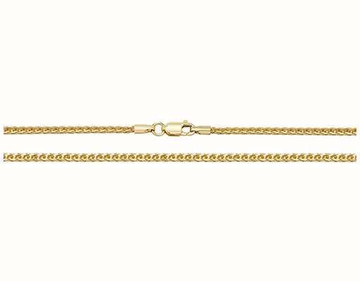 "Treasure House 9k Yellow Gold Spiga Chain 16"" Ch488/16"
