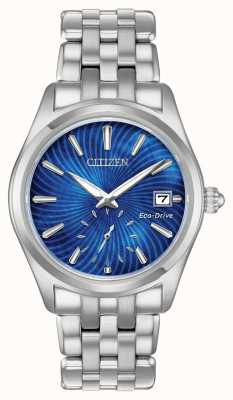 Citizen Womens Eco-Drive Blue Dial Stainless Steel WR100 EV1030-57N