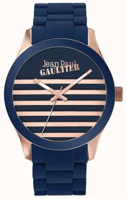 Jean Paul Gaultier Enfants Terribles Unisex Blue And Rose Gold Rubber Watch JP8501127