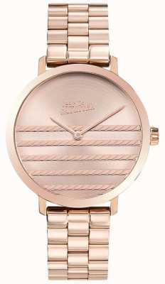 Jean Paul Gaultier Glam Womens Rose Gold Tone Metal Watch JP8505608