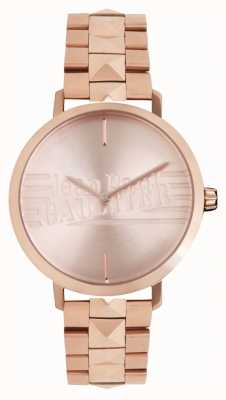 Jean Paul Gaultier Womens Bad Girl Rose Gold Tone Bracelet Watch 8505701