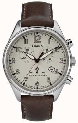 Timex Mens The Waterbury Traditional Tan Chrono Brown Leather TW2R88200