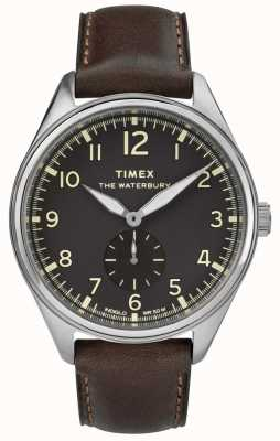 Timex Mens Waterbury Traditional Black Subdial Brown Leather TW2R88800