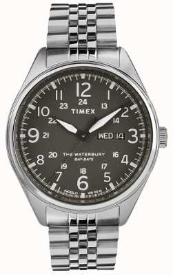 Timex Mens Waterbury Traditional Day Date Black Steel TW2R89300