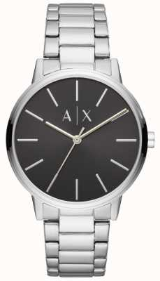 Armani Exchange Mens Stainless Steel Watch Black Dial Exchange AX2700