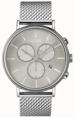 Timex Fairfield Supernova Chronograph Silver Mesh Watch TW2R97900D7PF