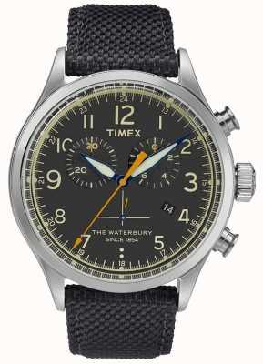 Timex Waterbury Chronograph Stainless Steel Black Watch TWF3C8260UK