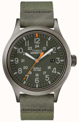 Timex Expedition Scout Watch Green Fabric Strap TW4B14000D7PF