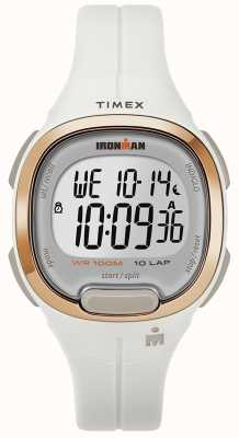 Timex Iron Man Essential White And Rose Gold Watch TW5M19900SU