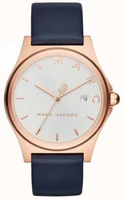 Marc Jacobs Womens Henry Watch Navy Leather Strap MJ1609