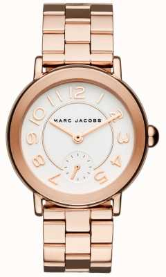 Marc Jacobs Womens Riley Watch Rose Gold Tone MJ3471