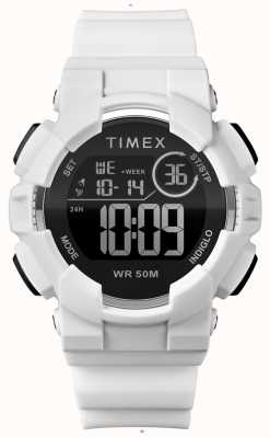 Timex Womens 44mm White Case White Strap TW5M23700
