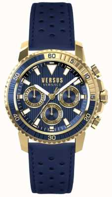 Versus Versace Mens Aberdeen Blue Leather Strap Blue Dial S30020017