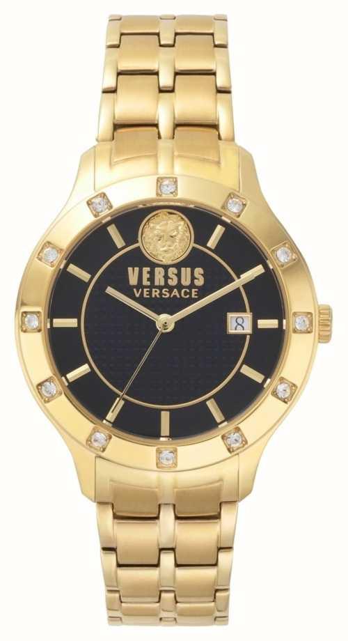 Versus Versace Womens Brackenfell Black Dial Gold PVD