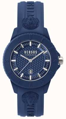 Versus Versace Tokyo R  Blue Dial Blue Silicone SPOY210018
