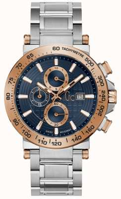 Gc Mens Urbancode Chronograph Blue Dial Stainless Steel Y37003G7