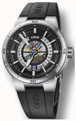 Oris Williams TT1 Engine Silicone Rubber Strap Skeleton Dial 01 733 7752 4124-07 4 24 06FC