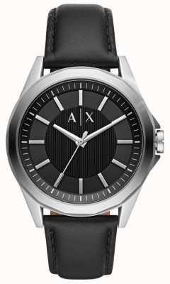 Armani Exchange Mens Dress Watch   Black leather strap   AX2621