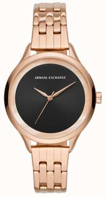 Armani Exchange Ladies Dress Watch Rose Gold AX5606