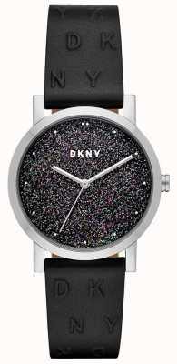 DKNY DKNY Ladies Soho Watch Black Leather Strap NY2775