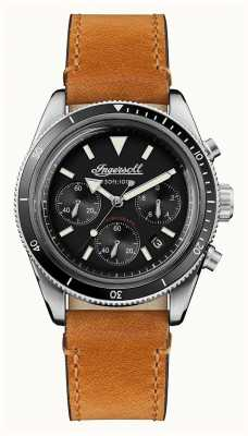 Ingersoll The Scovill Automatic Chronograph Brown Leather Strap I06202