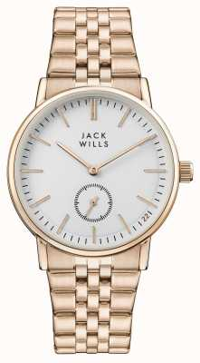Jack Wills Womens Buckley White Dial Rose Gold PVD Bracelet JW007WHRS