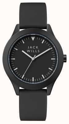 Jack Wills Womens Union Black Dial Black Silicone Strap JW008BKBK