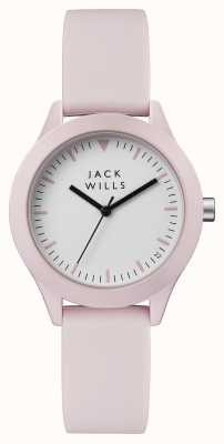 Jack Wills Womens Union White Dial Pink Silicone Strap JW008PKPK