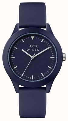 Jack Wills Mens Union Blue Dial Blue Silicone Strap JW009BLBL